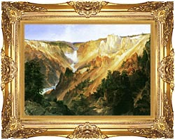 Thomas Moran Lower Falls Of The Yellowstone canvas with Majestic Gold frame