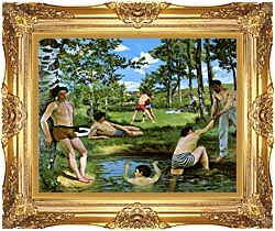 Frederic Bazille Summer Scene canvas with Majestic Gold frame