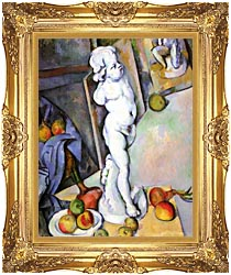 Paul Cezanne Still Life With Plaster Cast canvas with Majestic Gold frame