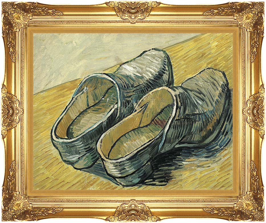 Vincent van Gogh A Pair of Leather Clogs with Majestic Gold Frame