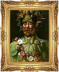 Giuseppe Arcimboldo Vertumnus canvas with Majestic Gold frame