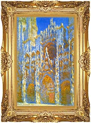 Claude Monet Rouen Cathedral Sunlight Effect canvas with Majestic Gold frame