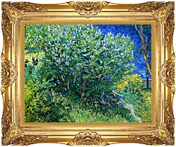 Vincent Van Gogh Lilacs canvas with Majestic Gold frame