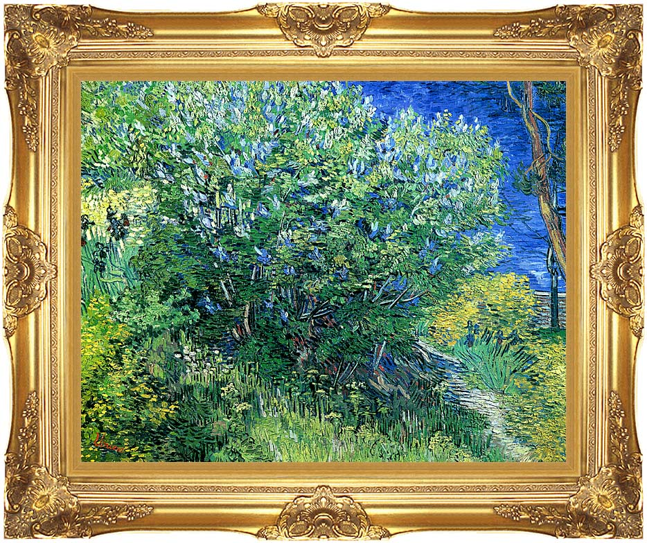 Vincent van Gogh Lilacs with Majestic Gold Frame