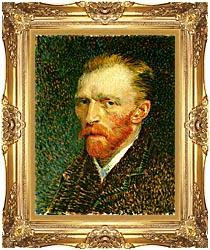 Vincent Van Gogh Self Portrait canvas with Majestic Gold frame