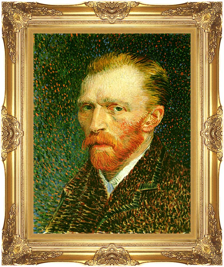 Vincent van Gogh Self Portrait with Majestic Gold Frame