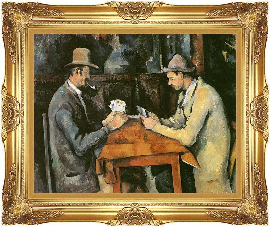 Paul Cezanne The Card Players with Majestic Gold Frame