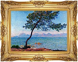 Claude Monet Antibes canvas with Majestic Gold frame