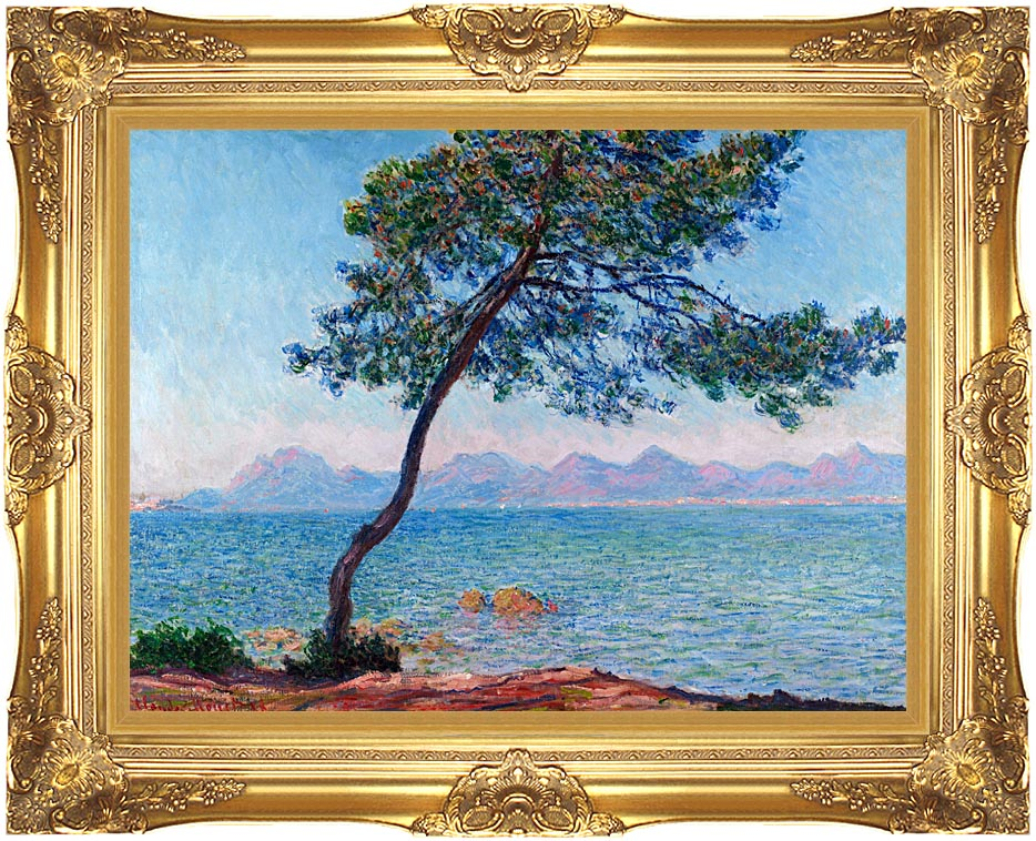 Claude Monet Antibes with Majestic Gold Frame