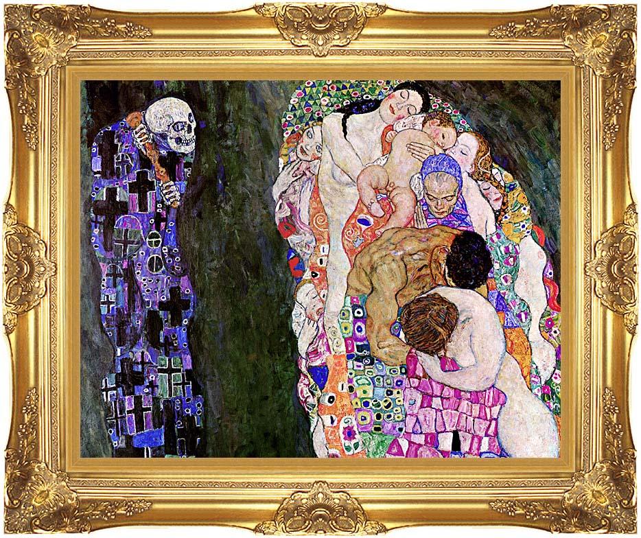 Gustav Klimt Death and Life (detail) with Majestic Gold Frame