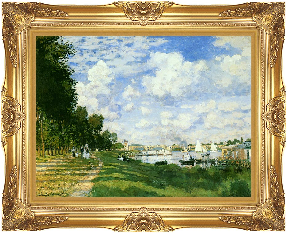 Claude Monet The Basin at Argenteuil with Majestic Gold Frame