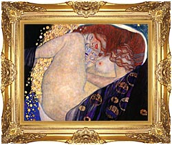 Gustav Klimt Danae Detail canvas with Majestic Gold frame