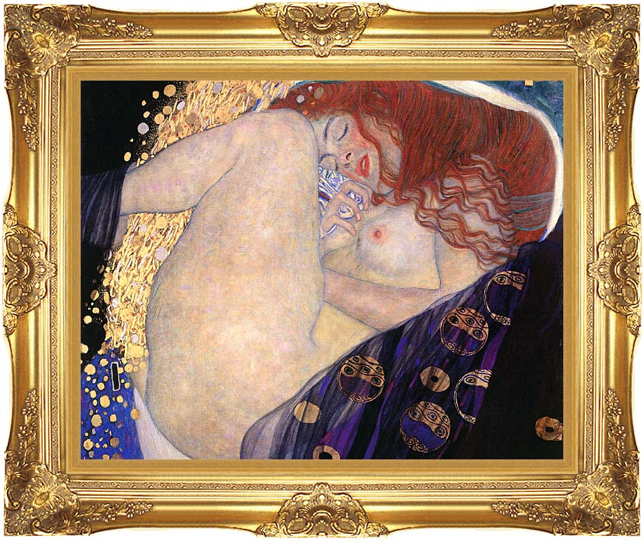 Gustav Klimt Danae (detail) with Majestic Gold Frame