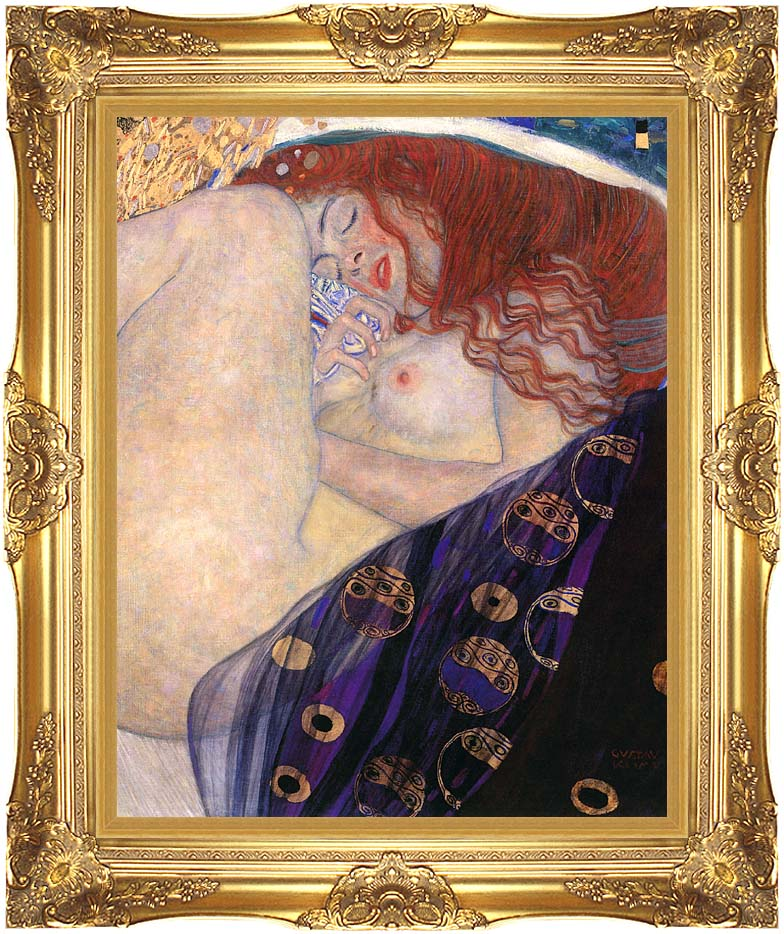 Gustav Klimt Danae 1907-8 (detail) with Majestic Gold Frame