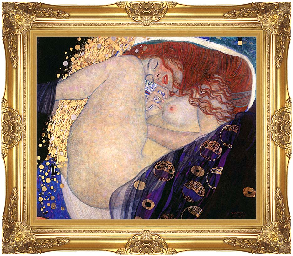Gustav Klimt Danae with Majestic Gold Frame
