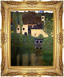 Gustav Klimt Schloss Kammer On The Attersee I Portrait Detail canvas with Majestic Gold frame