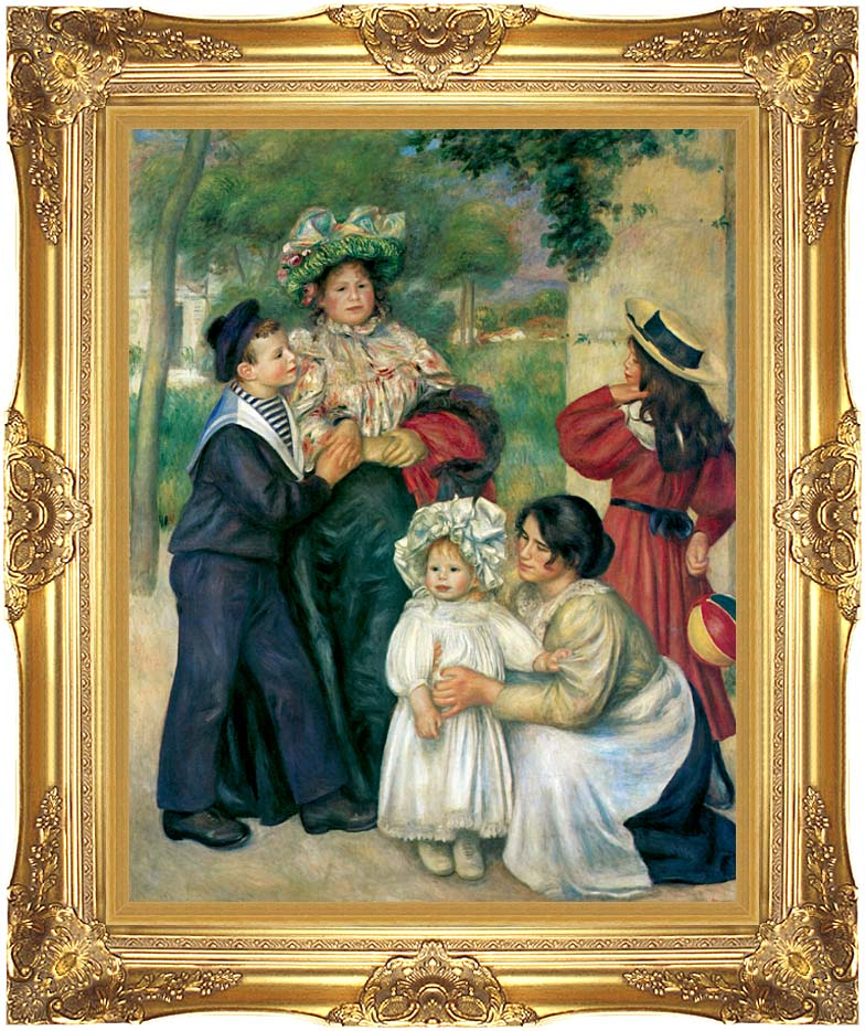 Pierre Auguste Renoir The Artist's Family with Majestic Gold Frame