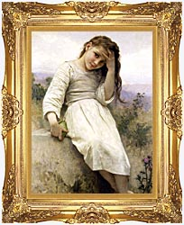 William Bouguereau Little Thief canvas with Majestic Gold frame