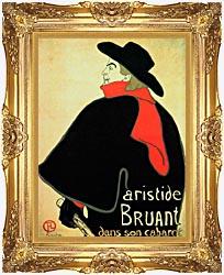 Henri De Toulouse Lautrec Aristide Bruant In His Cabaret canvas with Majestic Gold frame