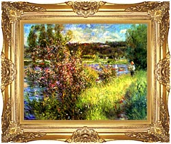 Pierre Auguste Renoir The Seine At Chatou canvas with Majestic Gold frame