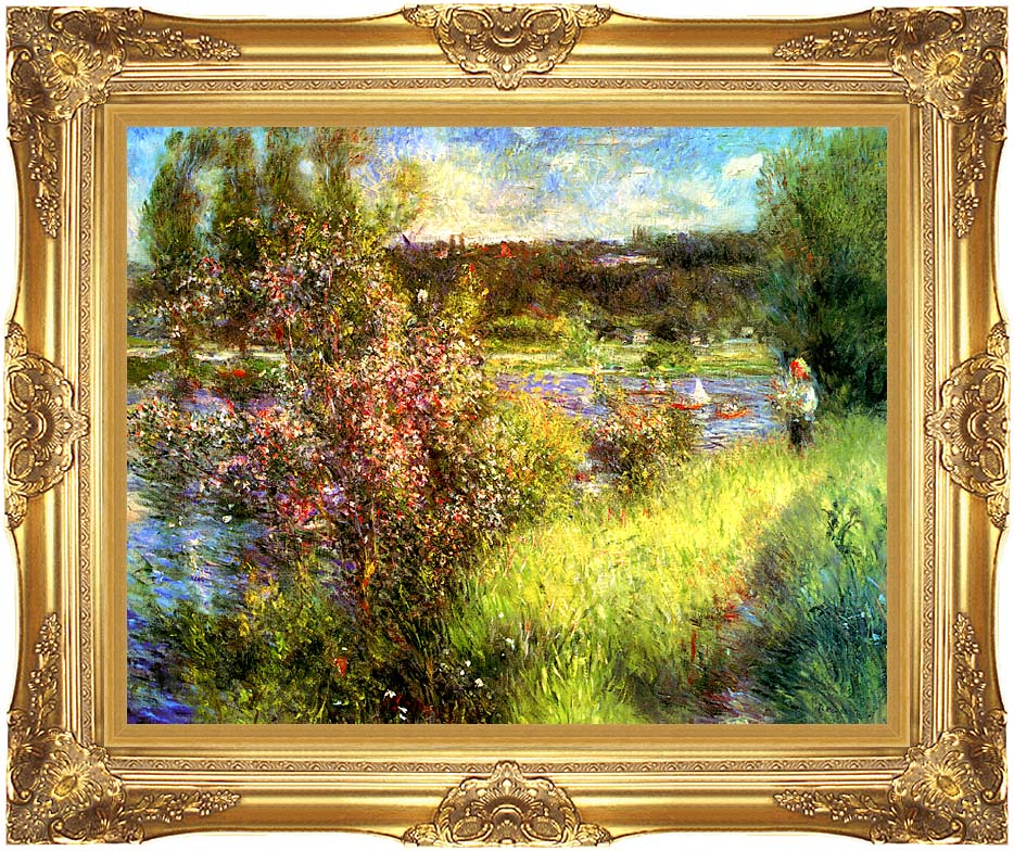 Pierre Auguste Renoir The Seine at Chatou with Majestic Gold Frame