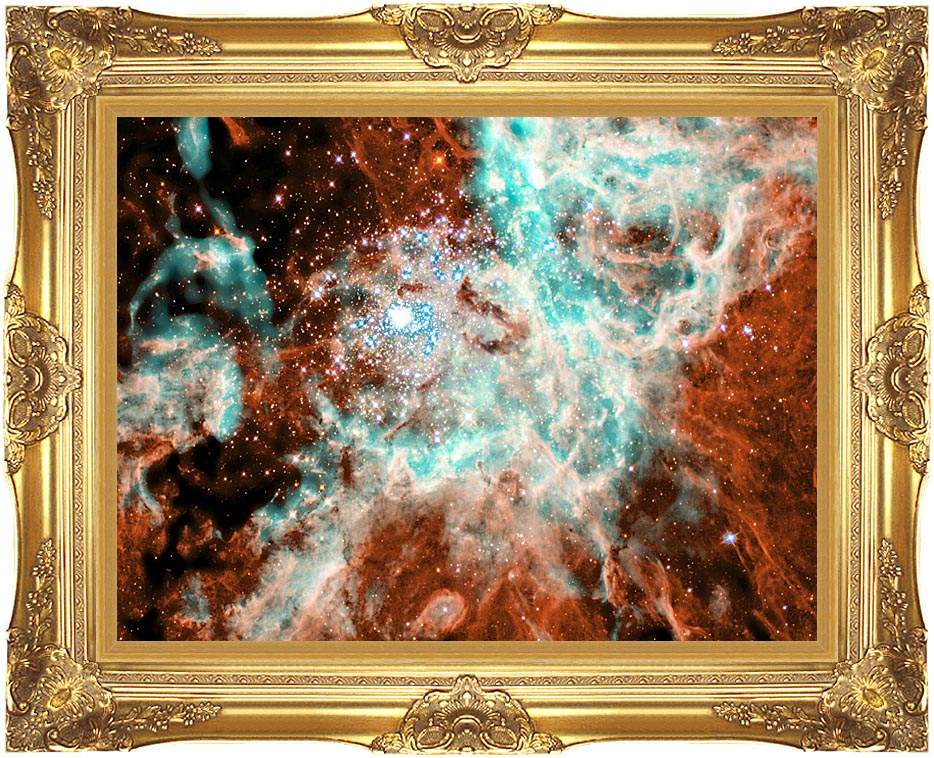 Courtesy Nasa Jpl Caltech 30 Doradus Nebula in Large Magellic Cloud with Majestic Gold Frame