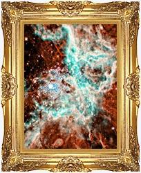Courtesy Nasa Jpl Caltech 30 Doradus Nebula In Large Magellic Cloud Portrait Detail canvas with Majestic Gold frame