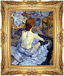 Henri De Toulouse Lautrec Rousse La Toilette canvas with Majestic Gold frame