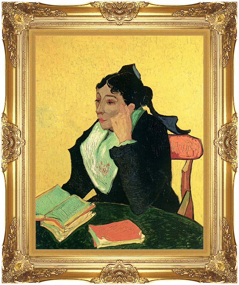 Vincent van Gogh Madame Ginoux with Books with Majestic Gold Frame