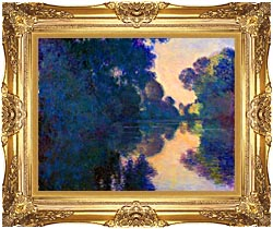 Claude Monet Morning On The Seine Near Giverny canvas with Majestic Gold frame