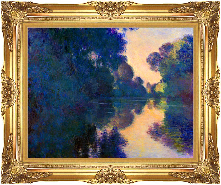 Claude Monet Morning on the Seine near Giverny with Majestic Gold Frame