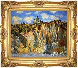 Claude Monet The Church At Varengeville Morning Effect canvas with Majestic Gold frame