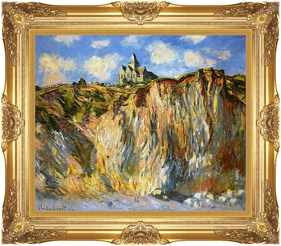 Claude Monet The Church at Varengeville, Morning Effect with Majestic Gold Frame