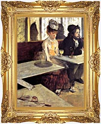 Edgar Degas The Absinthe Drinker In A Cafe canvas with Majestic Gold frame
