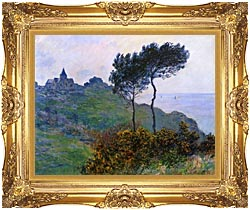 Claude Monet The Church At Varengeville Grey Weather canvas with Majestic Gold frame