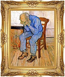 Vincent Van Gogh Old Man In Sorrow canvas with Majestic Gold frame