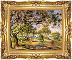 Pierre Auguste Renoir Noirmoutiers canvas with Majestic Gold frame