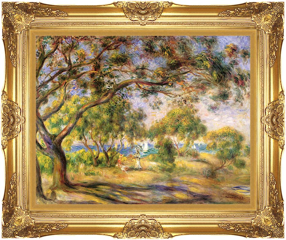 Pierre Auguste Renoir Noirmoutiers with Majestic Gold Frame