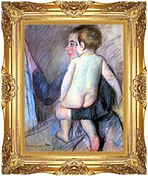 Mary Cassatt At The Window canvas with Majestic Gold frame