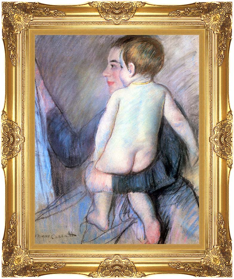 Mary Cassatt At The Window with Majestic Gold Frame