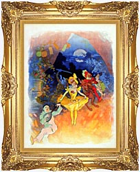 Jules Cheret Musee Grevin canvas with Majestic Gold frame