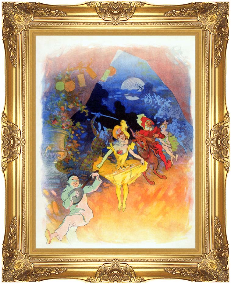 Jules Cheret Musee Grevin with Majestic Gold Frame