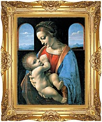 Leonardo Da Vinci Madonna Litta canvas with Majestic Gold frame