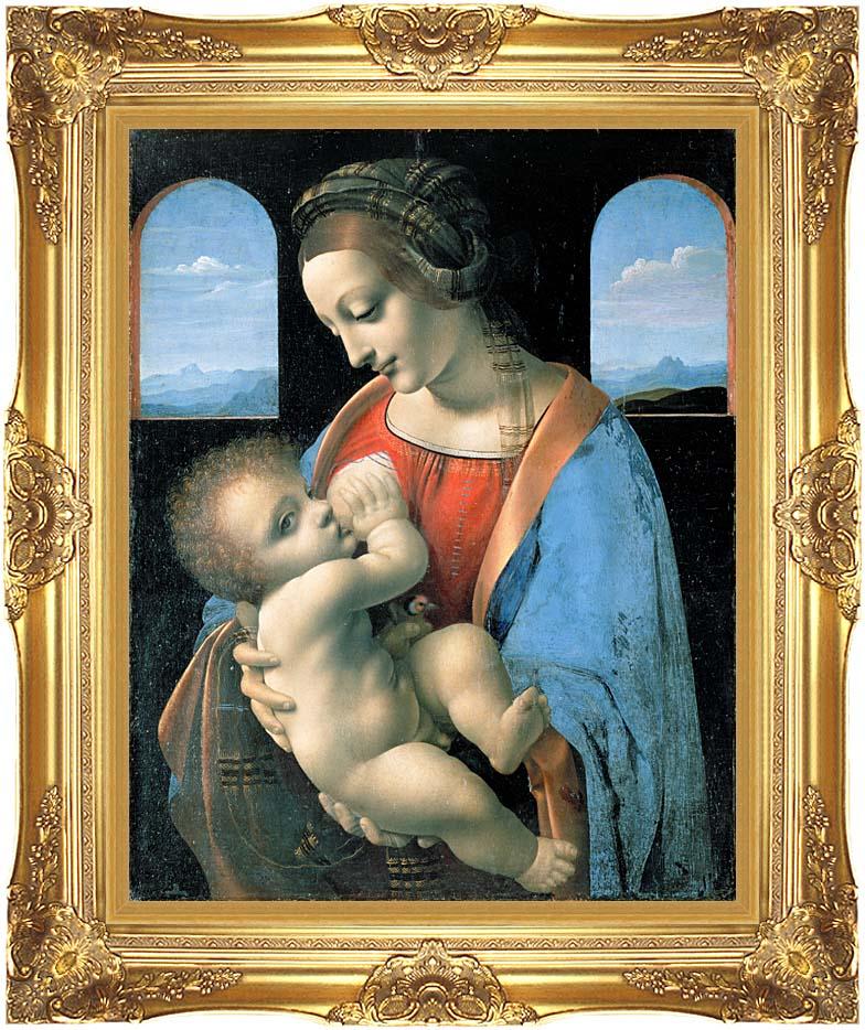 Leonardo Da Vinci Madonna Litta with Majestic Gold Frame