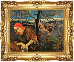 Paul Gauguin Christ In The Garden Of Olives canvas with Majestic Gold frame