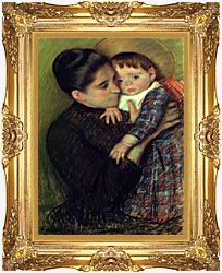 Mary Cassatt Helene De Septeuil canvas with Majestic Gold frame