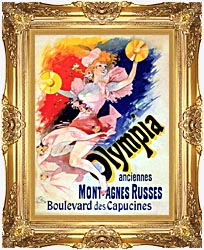 Jules Cheret Olympia canvas with Majestic Gold frame