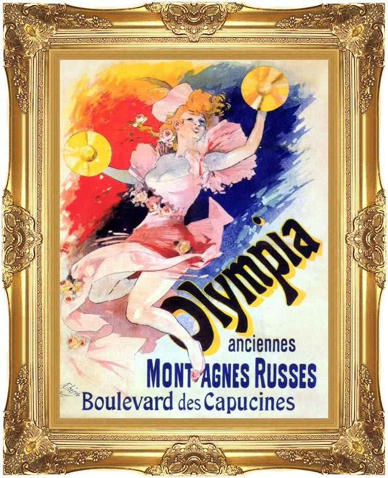 Jules Cheret Olympia with Majestic Gold Frame