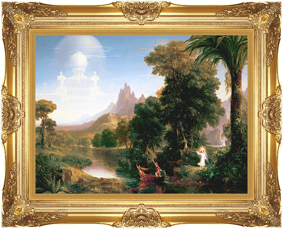 Thomas Cole The Voyage of Life: Youth with Majestic Gold Frame