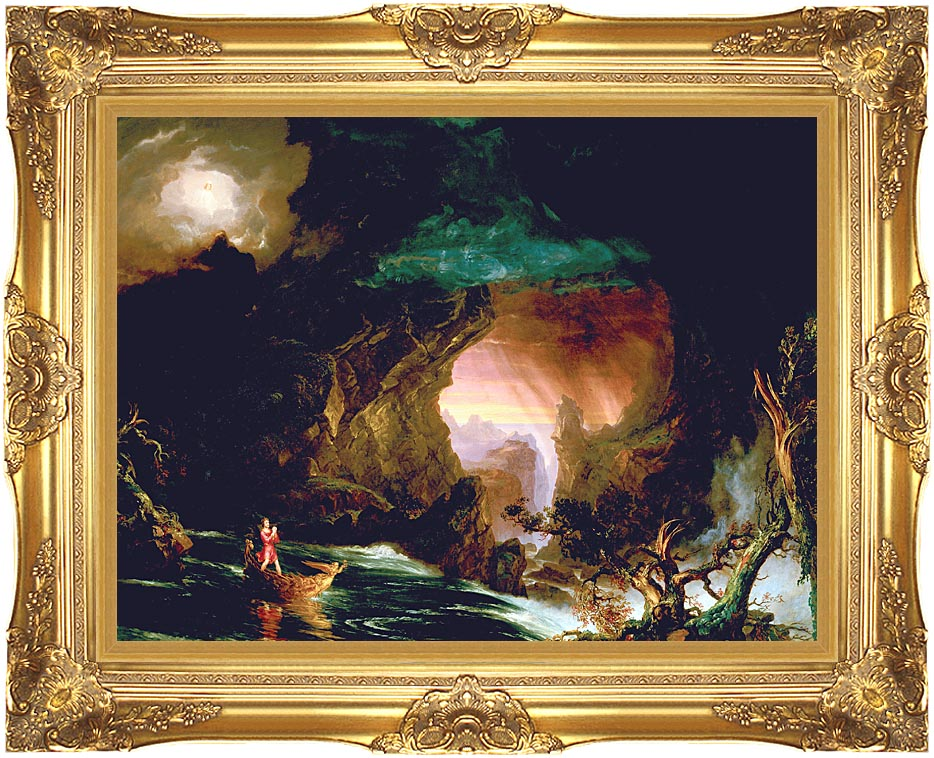 Thomas Cole The Voyage of Life: Manhood with Majestic Gold Frame